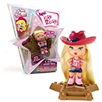 MGA EntertainmentブラッツItsy Bitsy Hair Flairシリーズ2 – 1 / 2インチ人形 – 国Stars Cloe withカウガール帽子、星型ベースand Hairbrush