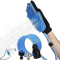 HDZDHKJ 両用 ペットブラシ 毛とり手袋 シャワーヘッド/バスブラシ 犬用 猫用 うさぎ お手入れマッサージ機能用品 室内/外用