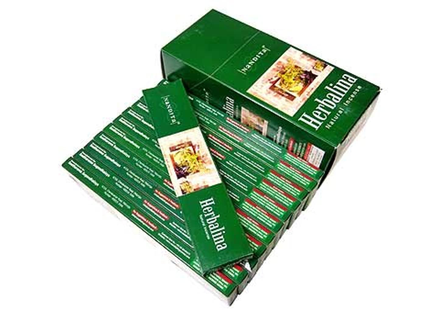 コントロール飼い慣らすバンクNANDITA(ナンディータ) ハーバリナ香 スティック HERBALINA 12箱セット