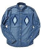 ジョーカーセレクト(JOKER Select) デニムシャツ メンズ 長袖 オルテガ 刺繍デニム シャツ M ネイビー(71)