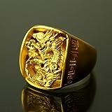 [PRIMAGOLD(プリマゴールド)] メンズジュエリー 24K 純金リング 指輪 龍 ドラゴン モチーフ 24金 純金 K24YG PRIMAGOLD プリマゴールド