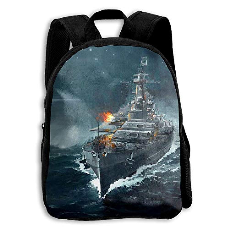 キッズ バックパック 子供用 リュックサック 戦い戦艦 ショルダー デイパック アウトドア 男の子 女の子 通学 旅行 遠足