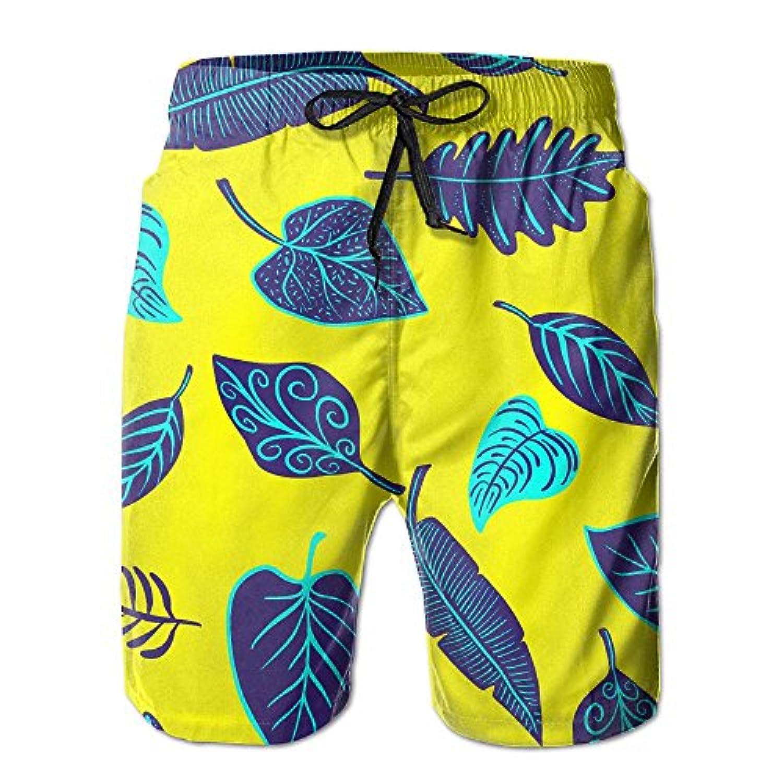 ボヘミア ツリー 葉 メンズ サーフパンツ 軽い 海水パンツ ビーチパンツ ハーフパンツ ショートパンツ 吸汗 速乾 オシャレな柄 部屋着 海水浴