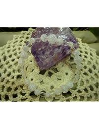 STONE WORLD パワーストーン 天然石 プレスレット 4月誕生石 クラッシャー水晶