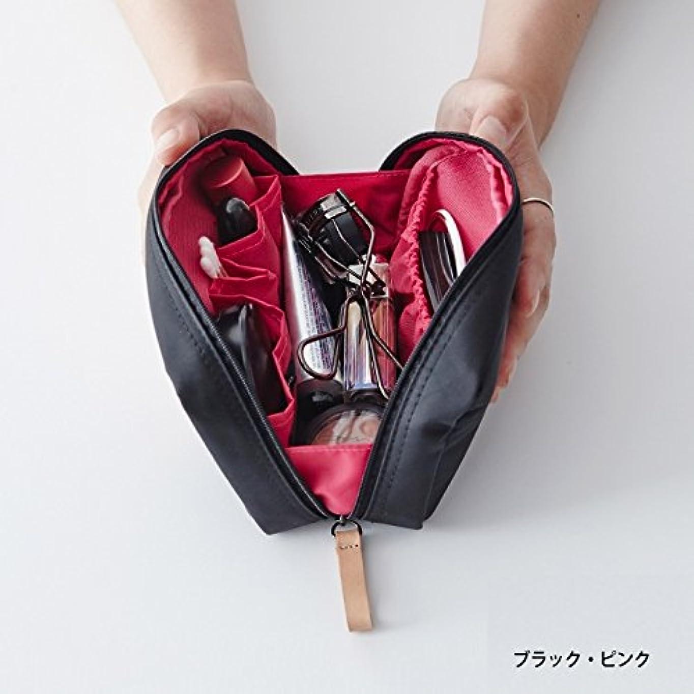 抱擁前ホーンithinkso DAY MAKE-UP POUCH スクエアデザインにたっぷり収納 (ブラック?ピンク)
