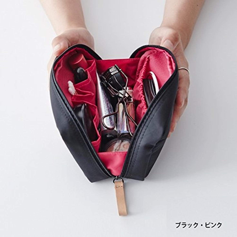 柔らかいショートモンクithinkso DAY MAKE-UP POUCH スクエアデザインにたっぷり収納 (ブラック?ピンク)