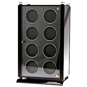 [ティーセレクションズ]T-SELECTIONS 高級MDF(中質繊維板) 製、8連ワインダー T005614BK