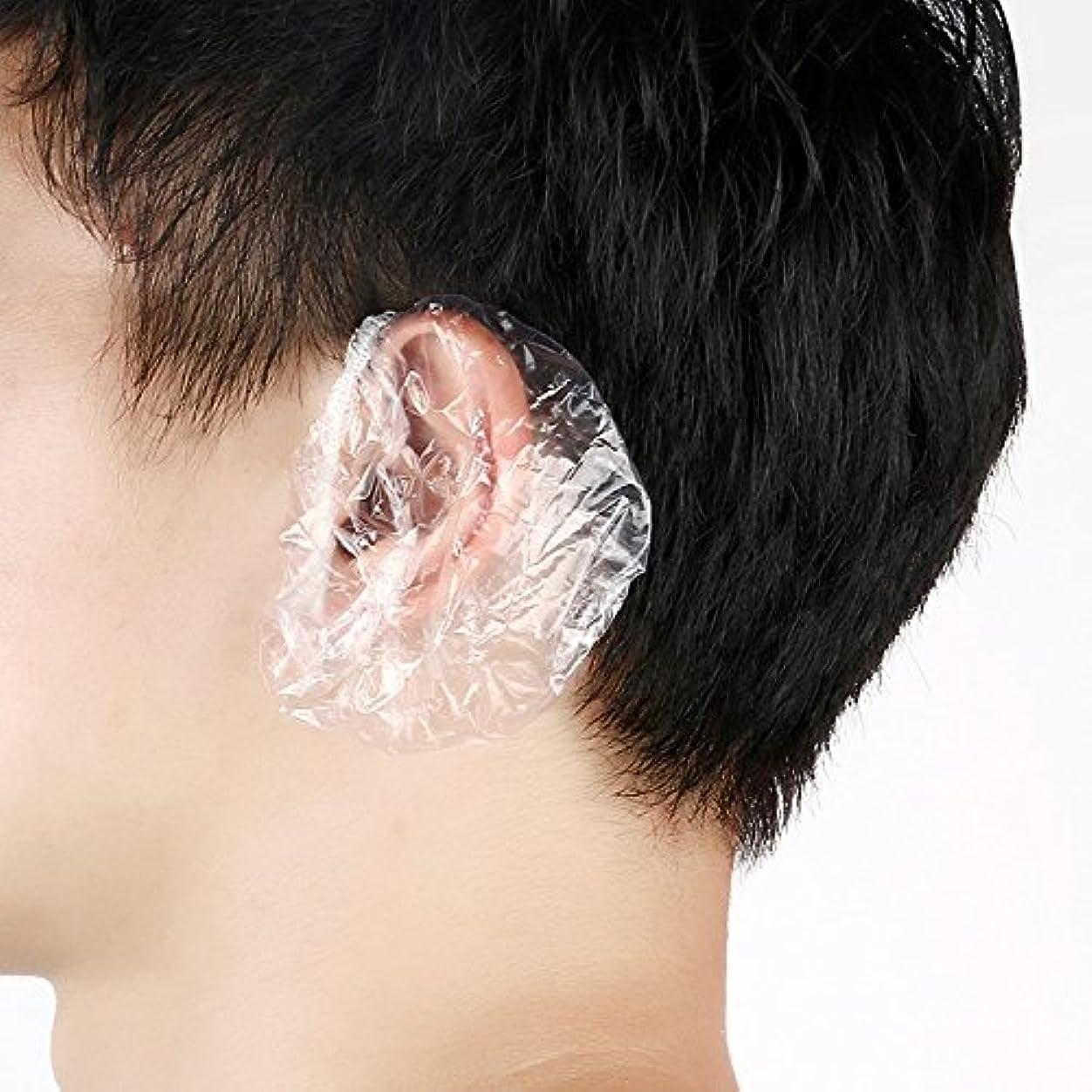 サイドボード常に通貨AMAA 耳キャップ 毛染め用 耳カバー  使い捨て 衛生的 袋入 100枚入り