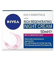 ニベア生活必需品の豊富な再生ナイトクリーム50ミリリットル (Nivea) (x2) - Nivea Daily Essentials Rich Regenerating Night Cream 50ml (Pack of 2) [並行輸入品]
