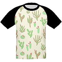 砂漠 サボテン かっこいい ベビー フロントプリント半袖 Tシャツ快適 子供 夏 トップ おもしろい 上着