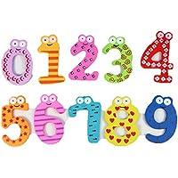 usstore 10pc 0 – 9数磁気木製番号数学セットforキッド赤ちゃん子クリスマスギフトおもちゃギフト