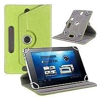 Ayangg 10インチタブレットフォリオケース、 360度回転 スタンド付きPUレザーカバー Fire HD 10、iPad/iPad Pro 9.7、iPad 1/2/3/4、iPad Air/Air 2、Samsung Tab (緑)
