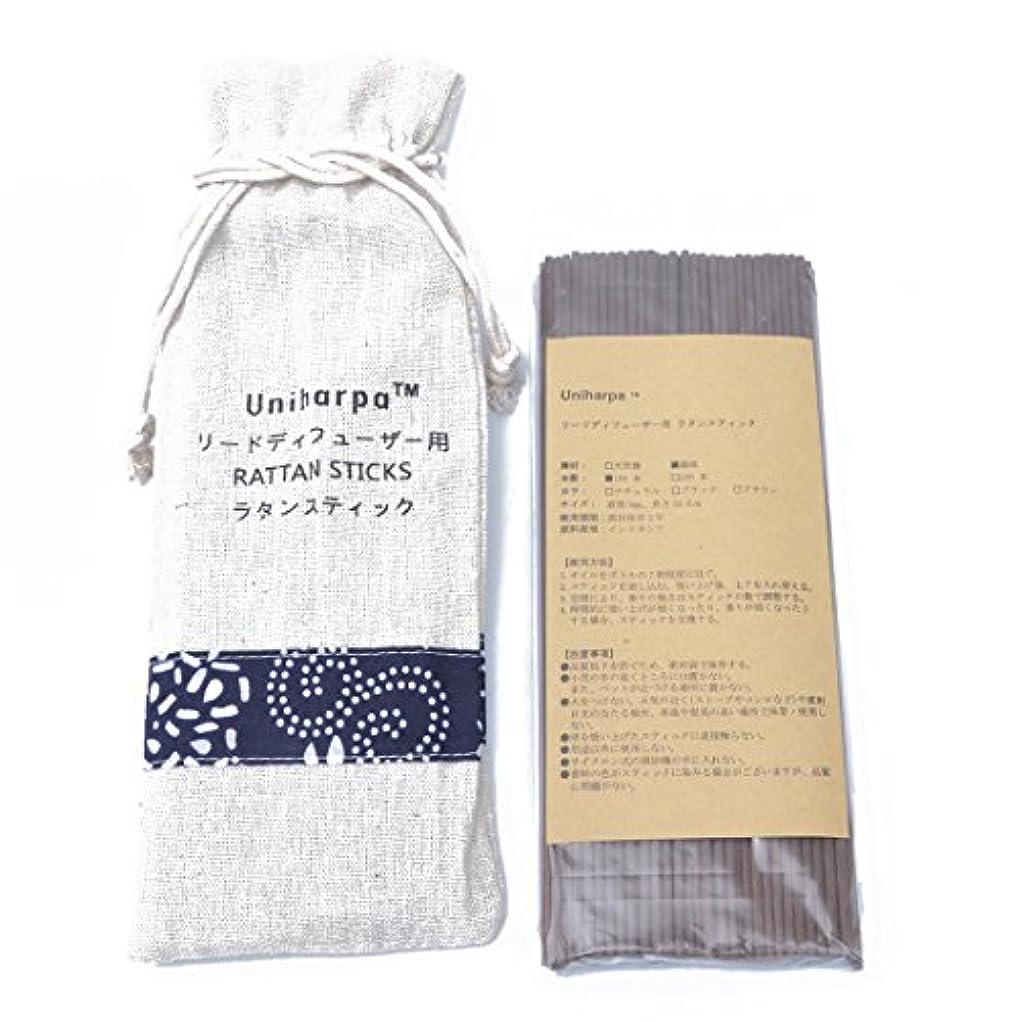 リードディフューザー用 ラタンスティック/リードスティック リフィル 繊維素材 22.5cm 直径3mm 100本入 乾燥剤入り オリジナル旅行専用袋付 (ブラウン)