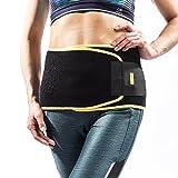 RooLee 腰サポーター ダイエットベルト 腰痛ベルト コルセット 腰痛緩和 腰椎固定 腰保護 けが防止 加圧 伸縮 通気 引き締め 二重ベルト フリーサイズ