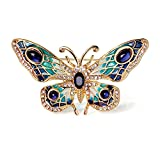 [xuanjewelry] 精緻な蝶のブローチ 合金の材質 蝶の造型 彩色石の飾りのブローチ