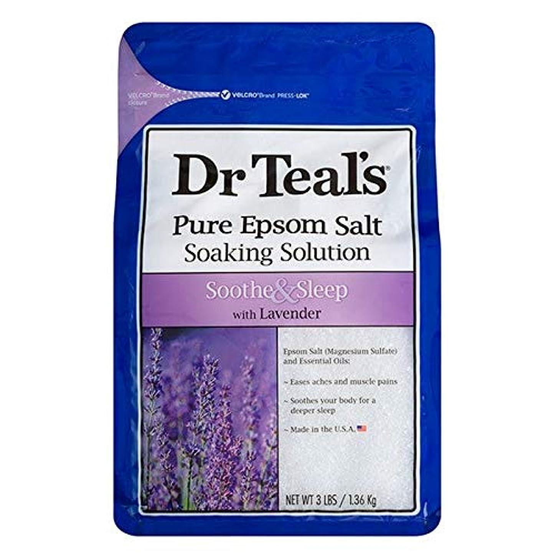 生まれストレスの多い思春期[Dr Teals] Drのティールのなだめる&睡眠1.36キロ - Dr Teal's Soothe & Sleep 1.36kg [並行輸入品]
