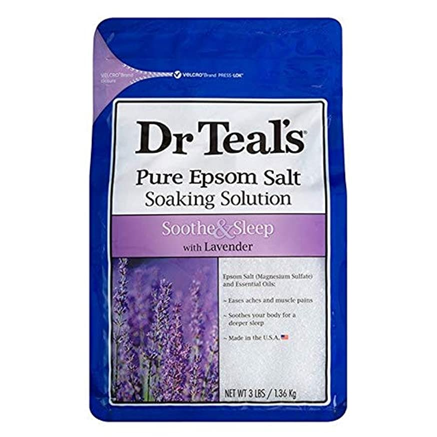 体操読書カラス[Dr Teals] Drのティールのなだめる&睡眠1.36キロ - Dr Teal's Soothe & Sleep 1.36kg [並行輸入品]