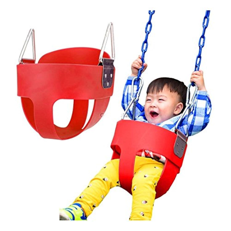 子供用フルセーフバケットスイング幼児用アウトドアベビー乳児Playground Swingset Seat – サイズ: 31 x 29 x 31 cm
