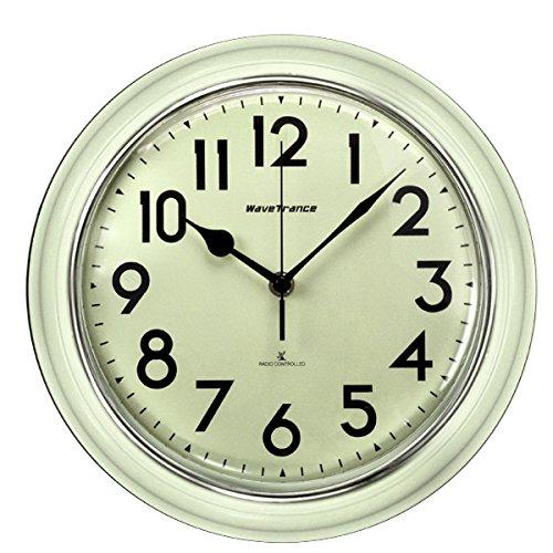 RoomClip商品情報 - 電波 ウォール クロック レトロ & アンティーク 壁掛け 時計 掛け 時計 掛 時計 WAVE TRANCE ホワイト