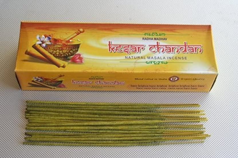 雑種パッチ嫉妬Kesar Chandan Incense - ((100 Gram Pack)