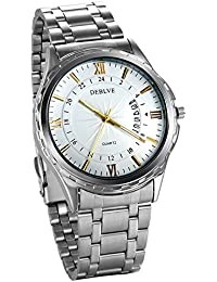 34e35a5bb5e3 JewelryWe メンズ ビジネス 腕時計 ウオッチ ローマ字文字盤 ...