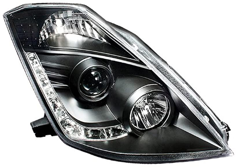 宿泊救出短命IPCW CWS-1120B2 Nissan 350Z 2006 - 2008 Head Lamps, Drl Projector With Hid Black