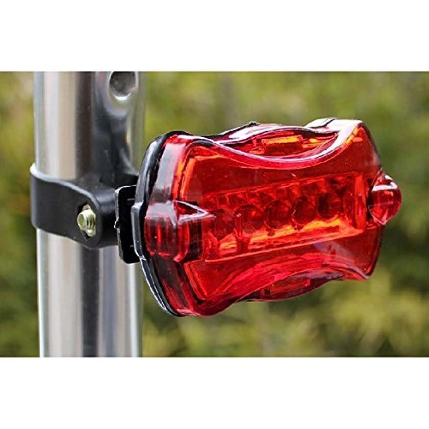 ポケット意義偉業5LED自転車自転車セーフティライト 防水リアライト 安全注意テールLEDライト