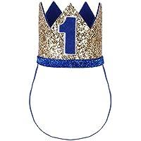 iiniim Baby Girls Boys 1st / First Birthday Crown Party Hat Headband Head wear Accessories