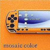 decotto PSP-2000専用デコシート decotto モザイクカラー-モザイクオレンジ柄 2面セット