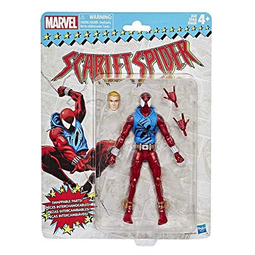 ハズブロ マーベルレジェンド ヴィンテージパッケージ 6インチ アクションフィギュア スカーレット・スパイダーマン (ベン・ライリー) / Hasbro 2018 MARVEL LEGENDS 6inch RETRO SUPER HEROES SCARLET SPIDER-MAN 最新 レジェンズ ML スーパーヒーローズ レトロ [並行輸入品]
