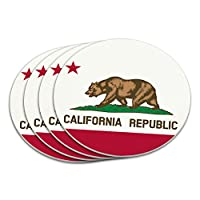 カリフォルニア共和国の旗コースターセット