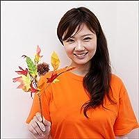 秋の装飾 オータムアレンジ栗ブッシュ L28cm 4437