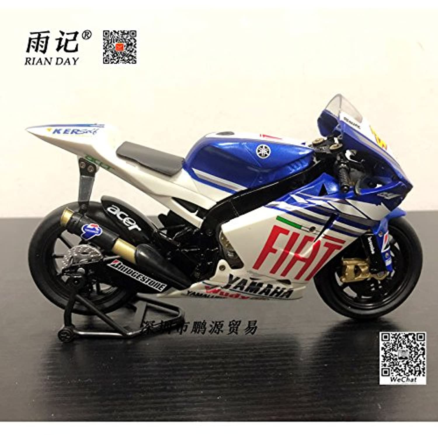 NEWRAY 1/12 Scale MotoGP Motorbike YAMAHA YZR-M1 2013 FACTORY Racing Diecast Metal Motorcycle Model Toy For Collection