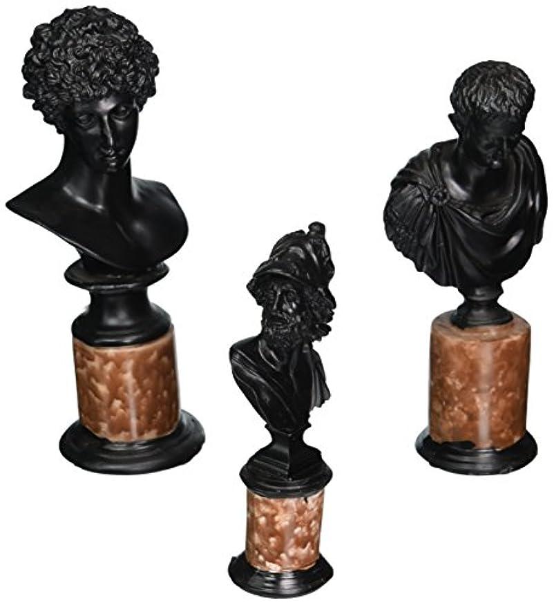 音楽を聴く受粉者延ばすDesign Toscano Heroes of Antiquity Ajax Caesar and Adonis Sculptural Busts