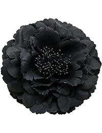 コサージュ 入学式 コサージュ フォーマル 2way ヘッドドレス 牡丹 コサージュ 黒 結婚式 髪飾り fham12032bk