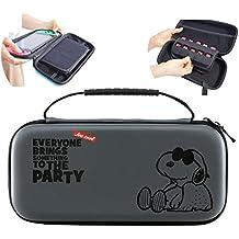 スヌーピー Nintendo Switch ケース ニンテンドースイッチ用 収納カバー かわいい マルチケース(グレイ618) [並行輸入品]