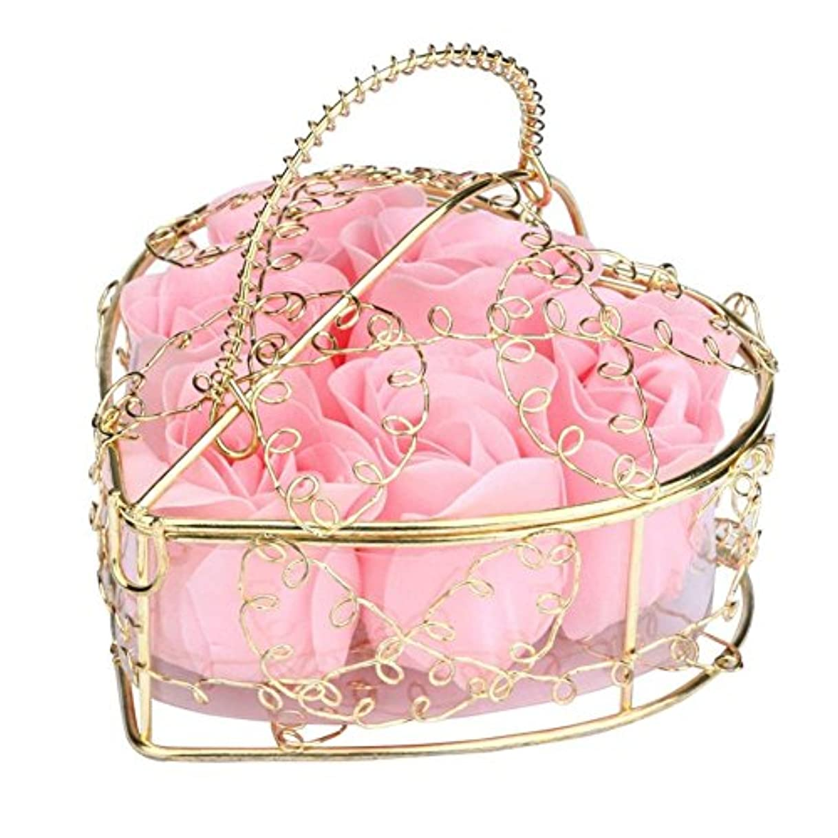 値インシデントそうSODIAL 6個の香り付きローズフラワー 花びらバス ボディソープ ウェディングパーティーギフト ホームDIYデコレーション(ピンク)