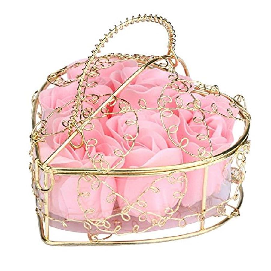 スマート予知必要とするSODIAL 6個の香り付きローズフラワー 花びらバス ボディソープ ウェディングパーティーギフト ホームDIYデコレーション(ピンク)