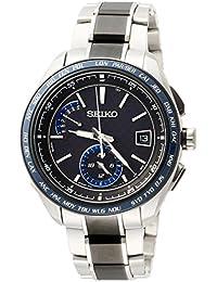 [ブライツ]BRIGHTZ 腕時計 BRIGHTZ ソーラー電波 スポーティライン カーボン調黒文字盤 チタンモデル サファイアガラス SAGA261 メンズ