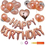 LCLOVER 誕生日 飾り付け バルーン 風船 バースデー パーティー セット 特大 HAPPY BIRTHDAY ポンプ 両面テープ 付き