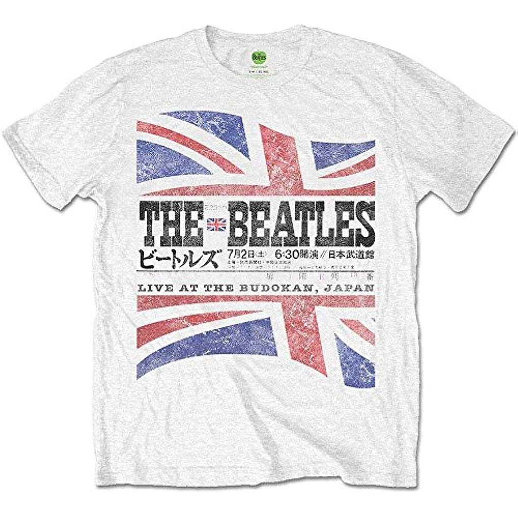 変な改修広げるビートルズ武道館50周年記念 BEATLES ビートルズ - BUDOKAN SET LIST(ヴィンテージ加工) / バックプリントあり/Tシャツ / メンズ 【公式/オフィシャル】