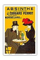 優れたエクストラアブサン - J・エドゥーアード Pernot S.A.社 - ビンテージな広告ポスター によって作成された リオネト・カピエロ c.1905 - アートポスター - 31cm x 46cm