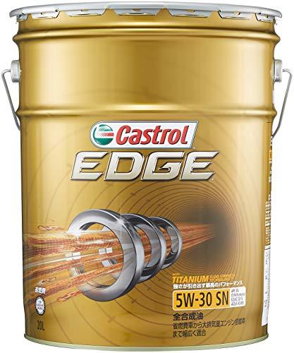 カストロール エンジンオイル EDGE 5W-30 20L 4輪ガソリン/ディーゼル車両用全合成油 ...