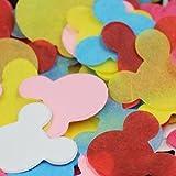 【EDEN】紙吹雪 レインボー ミッキー シャワー♪ [ピンク・ホワイト・イエロー・ブルー・レッド・パープル・マゼンタ 7色]バリュー 約1500枚(10~15人分) [E119]