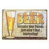 [ファン] Fun! ブリキ看板 ビール san ポスター BARインテリア雑貨 お酒 アメリカン雑貨 ビンテージ