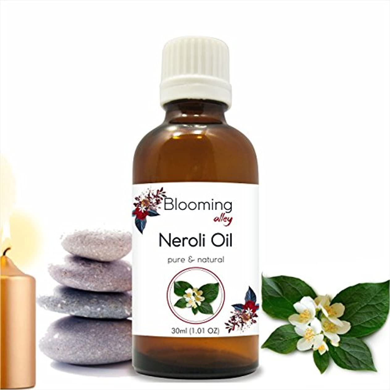 歌詞肌寒い魅力的Neroli Oil (Citrus Aurantium) Essential Oil 30 ml or 1.0 Fl Oz by Blooming Alley