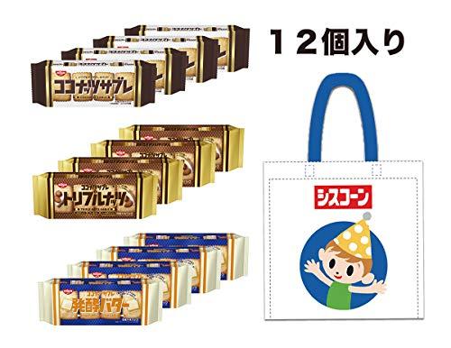 【Amazon.co.jp限定】 日清シスコ ココナッツサブレ3種アソートセット(ココナッツサブレ4個、トリプルナッツ4個、発酵バター4個)