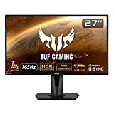 ASUS TUFGaming ゲーミングモニター 27インチWQHD/2560x1440/IPS/HDR10/1ms/165Hz/G-SYNC Compatible/FreeSync VG27AQ