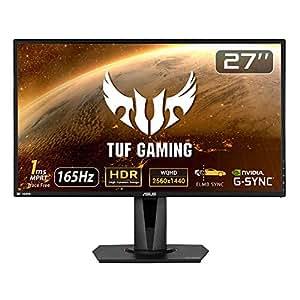 ASUS TUFGaming ゲーミングモニター 27インチWQHD/2560x1440/IPS/HDR10/1ms/165Hz/G-SYNC Compatible/FreeSync VG27AQ