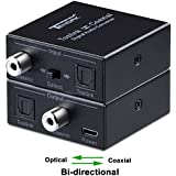 Optical to Coax, Tendak Optical SPDIF Toslink to Coaxial and Coaxial to Optical SPDIF Toslink Bi-Directional Swtich Digital Audio Converter Splitter Adapter